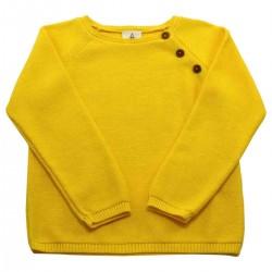 Pull tricot jaune Clément