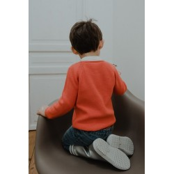 Pull tricot tangerine Clément