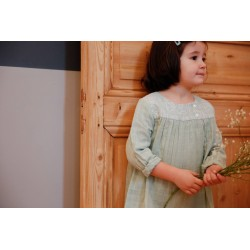 Robe lange vert Léopoldine