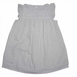 Robe sans manche lange blanc Hortense