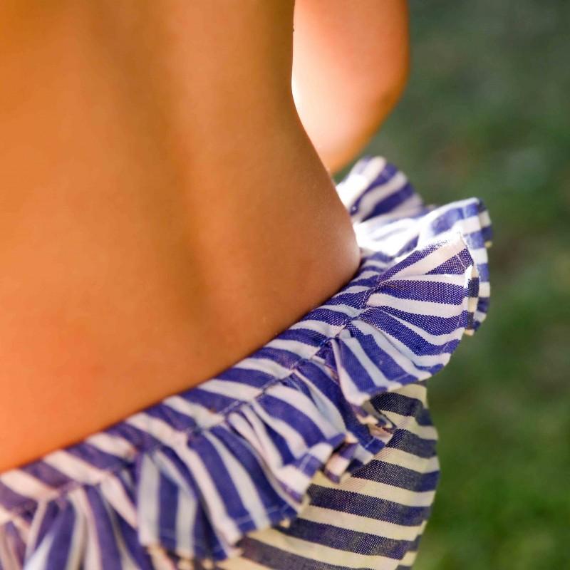 Maillot de bain rayé bleu Juliette
