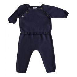 Aime Set blue-grey knit