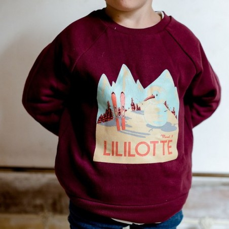 Axel Sweatshirt Lililotte x Marcel Travel Posters burgundy
