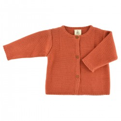 Victoire Cardigan tangerine knit