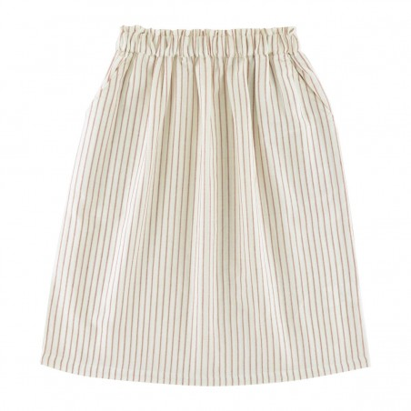 Brune Skirt terracotta stripes