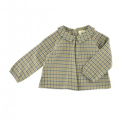 Octave Blouse blue gingham