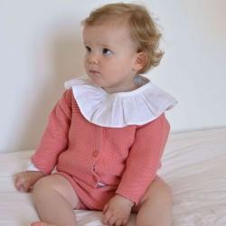 Cardigan tricot pivoine...