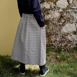 Jupe tweed Brune