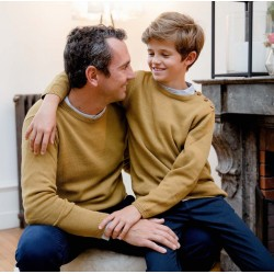 Pull homme tricot mousse...