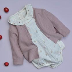 Victoire cardigan purple knit