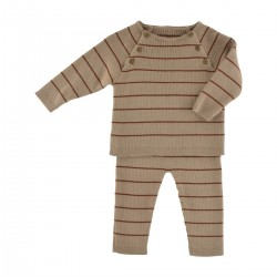 Aime Set nougat/chestnut knit
