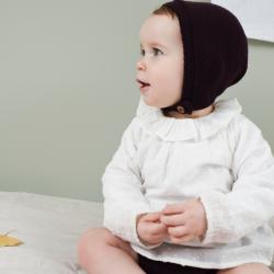 Clovis Bonnet aubergine knit