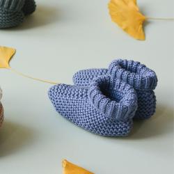 Eugene Booties misty blue knit