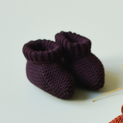 Eugene Booties aubergine knit