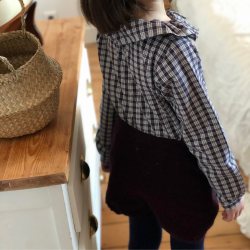 Short Fantine tricot aubergine
