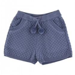 Short Fantine tricot bleu...