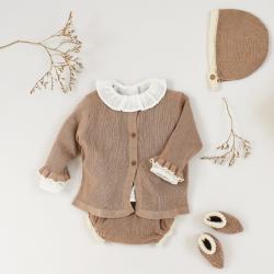 Victoire Cardigan nougat knit