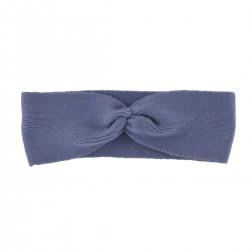 Bandeau tricot bleu brume