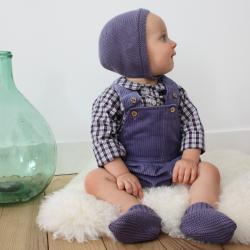 Clovis Bonnet misty blue knit