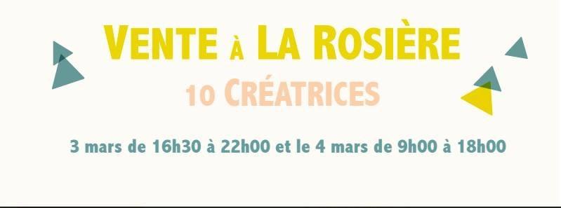 Vente à la Roseraie avec 10 créatrices!