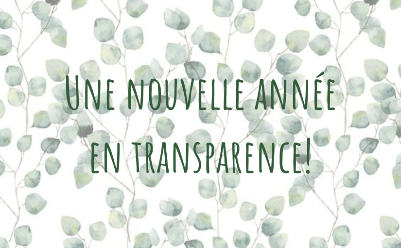 Une nouvelle année et toujours plus de transparence!